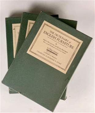 The Dictionary of English Furniture, Three Volumes