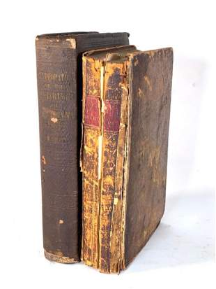 Two Antique Books with Folding Maps and Plates