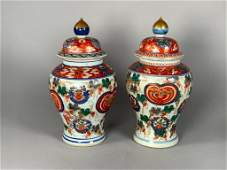 Pair of Imari Ginger Jars