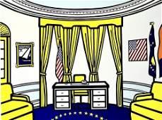 """Roy Lichtenstein (American 1923-1997) """"Oval Office"""""""