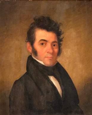 19thc. English School, Portrait with Wild Hair