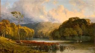William James Muller Oil, Landscape Near Bristol, c.