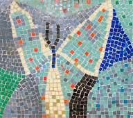 Roy Lichtenstein Rare Mosaic Tile Tabletop, 1950