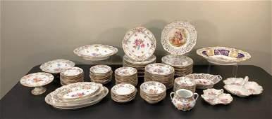 Dresden Porcelain Part Dinner Service