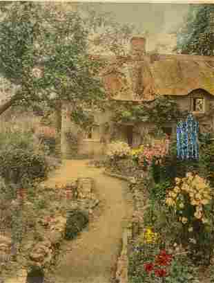 """Wallace Nutting, """"A Garden of Larkspur"""""""