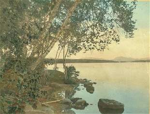 """Wallace Nutting, """"At Mingo Point"""""""