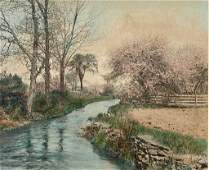 """Wallace Nutting, """"Spring in the Dell"""""""