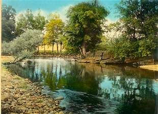 """Wallace Nutting, """"The Swimming Hole"""""""