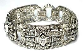Art Deco Period Diamond and Platinum Bracelet