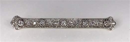 Platinum and Diamond Bar Pin, c.1900