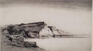 Albany E. Howarth Etching, English Coastal Scene