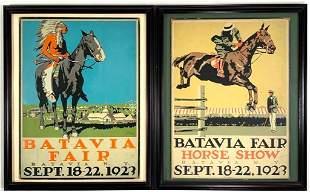 Roy Miller Silkscreens,Batavia Horse Show, Batavia Fair