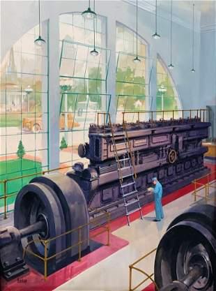 Louis Valentine Bonhajo Illustration, Industrial Engine