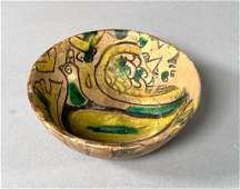 Nishapur Pottery Bowl, Iran, 9th-11thc.