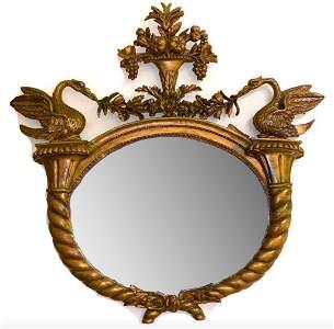 Classical Style Giltwood Cornucopia Mirror