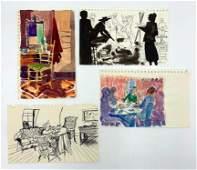 Four Sketches by Algesa O'Sickey