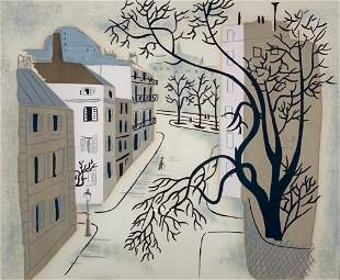 "Jean Hugo Screenprint ""Paris Street"""