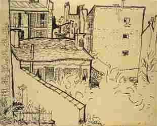 Liuboslav Hutsaliuk Drawing, Rooftops