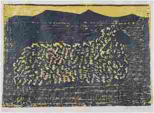 "Milton Avery Color Woodblock ""Lamb"""