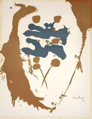 """Helen Frankenthaler Lithograph, """"Heavenly Twins"""""""
