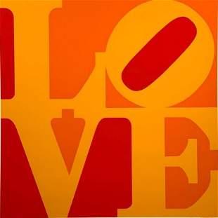 "Robert Indiana Screenprint, ""Golden Love"""