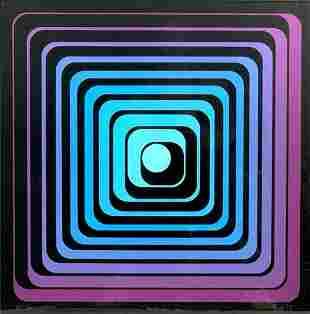 Jean Pierre Yvaral Vasarely Silkscreen
