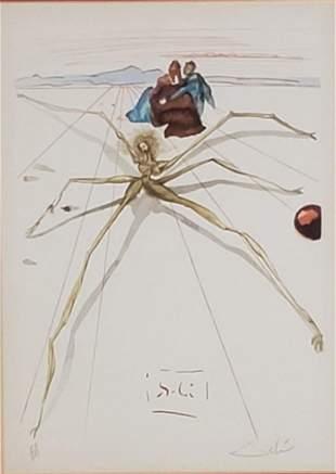 "Salvador Dali Lithograph ""Dante"