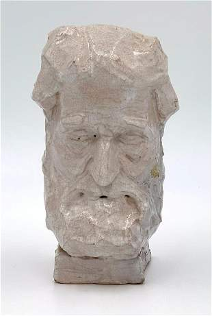 Frank L.Jirouch Glazed Terracotta Head