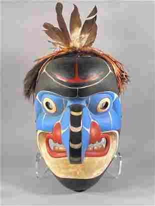 Chief Lelooska Carved Wood Northwest Coast Large Mask