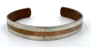 Los Castillos Taxco Mixed Metal Cuff Bracelet