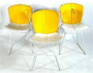 Three Harry Bertoia Wire Mesh Chairs for Knoll