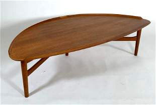 Finn Juhl for Baker Furniture Teak Coffee Table