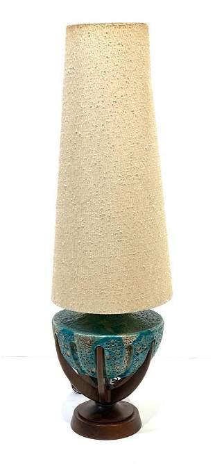Mid-Century Modern Lava Glaze Ceramic Lamp