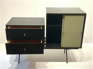 Mid-Century Modern Ebonized Wood Cabinet