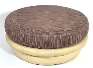 Thayer Coggin Upholstered Round Ottoman