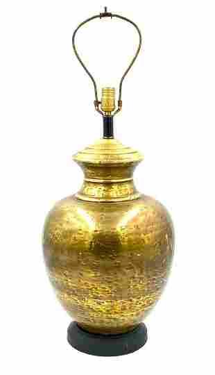Rustic Brass Table Lamp, Modern