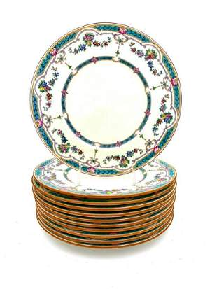 Set of 11 Minton's Porcelain Dinner Plates