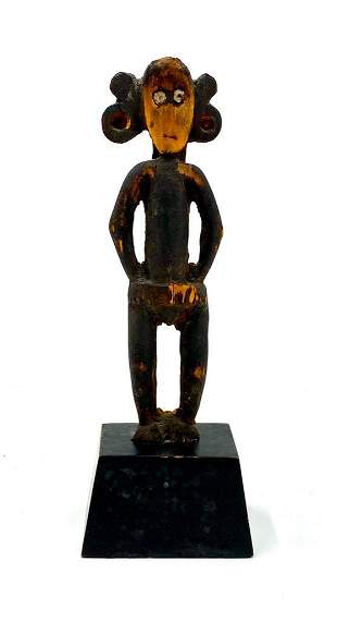 African Carved and Painted Wood Figure