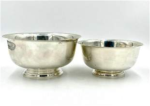 Two M.Fred Hirsch Company Sterling Revere Bowls