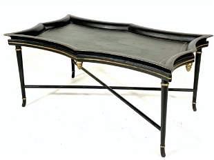 Ebonized Tray Style Coffee Table, Modern
