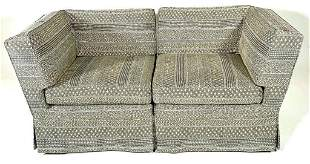 Two Piece Upholstered Sectional Sofa