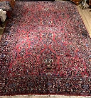 """Antique Sarouk Carpet, 14'7"""" x 9'5"""""""