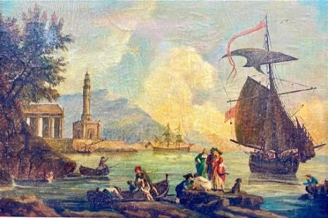 James Walker Oil, Italian Harbor Scene