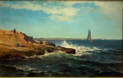 Mauritz Frederik De Haas Oil, Rocky Coast