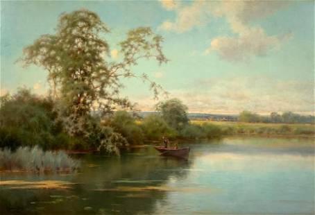 Emilio Sanchez Perrier Oil, Tranquil River