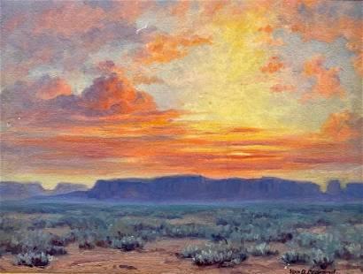 Van De Witt Copeland Oil, Arizona Sunset
