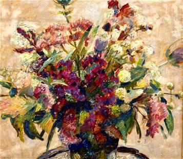 Hans Busch Oil, Floral Still Life