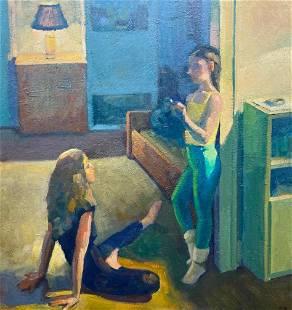 Donald James Wynn Oil, Interior, Dancers Resting