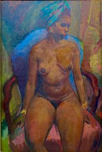 C. Tarka Oil Portrait, Nude Woman