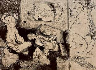 J. Chapin Etching, Annunciation, 2